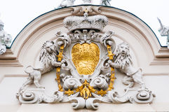 Architectural detail of Belvedere Palace in Vienna, Austria Stock Photography