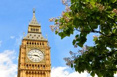Architectural detail of Big Ben. In London, UK Royalty Free Stock Images