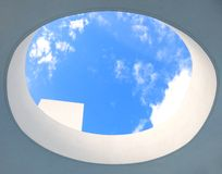 Architectural detail and blue sky Royalty Free Stock Photography