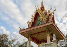 Architectural detail in a Buddhists temple Royalty Free Stock Photography