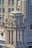 Architectural Detail of Building, Chicago, Illinois Stock Image
