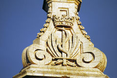 Architectural detail of a building in Mdina, Malta. Stock Photography