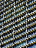 Architectural detail of building in Mumbai. Detail of a modern skyscraper in Mumbai, India Royalty Free Stock Images