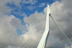 Cable bridge detail Royalty Free Stock Image