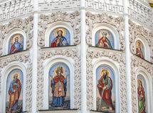 Architectural detail of the Cathedral wall. Stock Photo