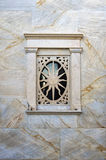 Architectural detail of a Catholic church in Ermoupolis, Syros island, Cyclades, Greece Royalty Free Stock Image