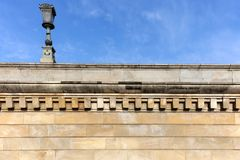 Architectural detail of Chain Bridge. Budapest, Hungary, Europe. Royalty Free Stock Image