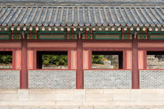 Architectural detail of a Changdeokgung Palace building, Seoul, Royalty Free Stock Image