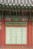 Architectural detail of a Changdeokgung Palace building, Seoul, Stock Photos