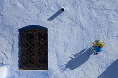 Architectural detail in Chefchaouen, Morocco, Africa.  stock photos