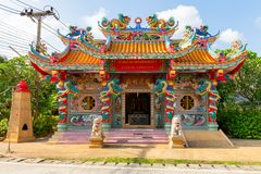 Architectural detail at the chinese temple in Mae Nam, Ko Samui, Thailand, Asia stock photos