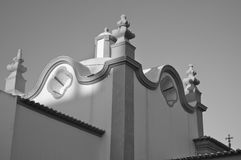 Architectural detail of the Church of Santana in Albufeira Stock Photo