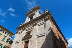 Architectural detail of church in Siena, Italy Royalty Free Stock Photography