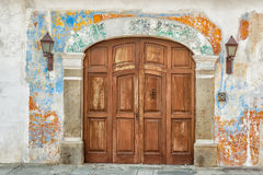 Architectural detail at the colonial house in Antigua Guatemala. Stock Image