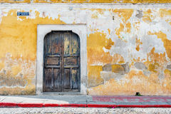 Architectural detail at the colonial house in Antigua Guatemala. Royalty Free Stock Images