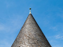 Architectural detail of conical roof Royalty Free Stock Images