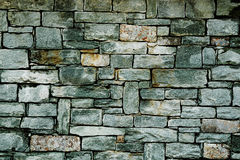 Architectural detail- cut stone wall Royalty Free Stock Image