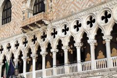 Architectural detail of Doge s Palace in Venice Royalty Free Stock Image