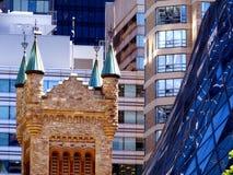 Architectural Detail of Downtown Toronto royalty free stock photo