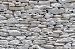 Architectural detail of a drystone wall, Kythnos island, Cyclades, Greece Royalty Free Stock Photography