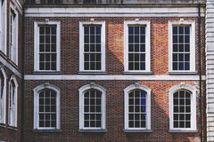 Architectural detail of Dublin Castle`s courtyard in Ireland Royalty Free Stock Photos