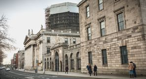 Architectural detail of the Dublin Four Court Courthouse stock photography