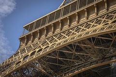 Architectural Detail of Eiffel Tower Royalty Free Stock Photo