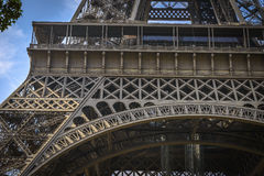 Architectural Detail of Eiffel Tower Stock Photos