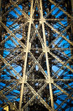 Architectural Detail of Eiffel Tower Stock Images