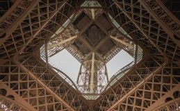Architectural detail of the Eiffel Tower in Paris. France Royalty Free Stock Image