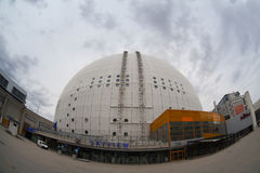 Architectural detail of the Ericsson Globe Royalty Free Stock Image