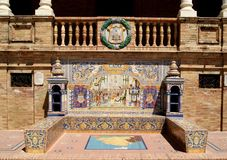 Architectural detail of facade tiles Stock Image