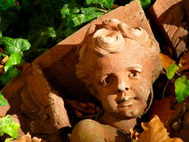 Architectural Detail of Fallen Cherub Stock Photos