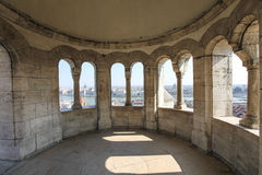 Architectural detail in Fisherman's Bastion in Budapest. Hungary Royalty Free Stock Images