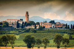 Nice view of the ancient town in Italy Stock Images