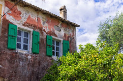 Architectural detail in Gaios village, Paxoi island, Greece Stock Photo