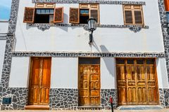 Architectural detail in Garachico, Tenerife Royalty Free Stock Photography