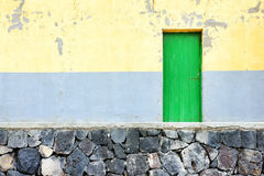 Architectural detail in Garachico stock image