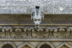 Architectural Detail of Gargoyle statue in Notre-dame Stock Image