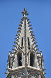 Architectural detail of a gothic cathedral roof Stock Images