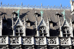 Architectural detail in the Grand Place of Brussels Stock Photography