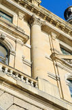 Architectural Detail Of A Historical Building. Landmark Haydarpasa Train Station in Istanbul - Turkey Royalty Free Stock Photo