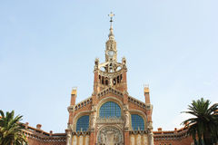 Architectural detail: Hospital de Sant Pau, Barcel Royalty Free Stock Image