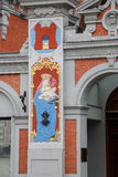 Architectural detail of the house of the Blackheads in Riga. Latvia. Royalty Free Stock Photography