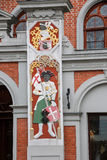Architectural detail of the house of the Blackheads in Riga. Latvia. Stock Photography