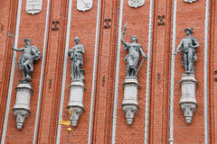 Architectural detail of the house of the Blackheads in Riga. Latvia. Stock Photo