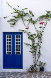 Architectural detail of a house in Paros island, Cyclades, Greece Stock Images