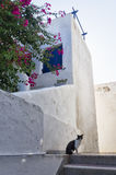 Architectural detail of a house in Paros island, Cyclades, Greece. Architectural detail of a house in Paros island, Cyclades Royalty Free Stock Photography
