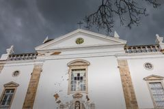 Architectural detail of the Igreja da Misericordia Catholic Church royalty free stock image