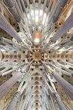 Architectural detail inside. Sagrada Familia Stock Photography